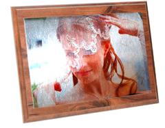 Фото на металле с деревянной плакеткой -стильный и яркий подарок.
