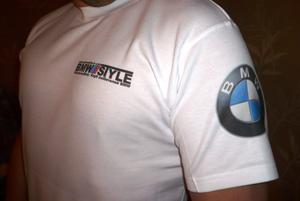 Мы произвели печать на футболках автоклуба BMW.